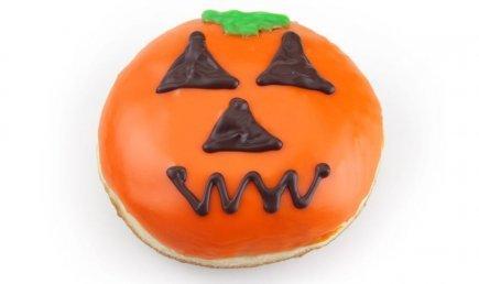 Halloween Jack O Lantern Donuts